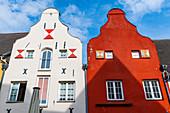 Hanseatic houses, Hanseatic city of Wismar, UNESCO World Heritage Site, Mecklenburg-Vorpommern, Germany, Europe