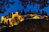 Former Cassis Castle (Chateau de Cassis) at dusk, Cassis, Bouches du Rhone, Provence, France, Mediterranean, Europe