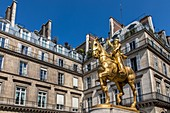 EQUESTRIAN STATUE OF JOAN OF ARC BY THE FRENCH SCULPTOR EMMANUEL FREMIET, PARIS, 1ST ARRONDISSEMENT