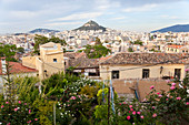 View to Lykavittos Hill, Athens, Greece