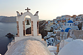 The village of Oia Santorini Cyclades islands, Greece