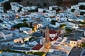 Dusk, Lindos, Rhodes Island, Dodecanese Islands, Greece