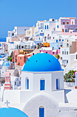 View of Oia village, Oia, Santorini, Cyclades Islands, Greek Islands, Greece, Europe