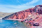 Red Beach, Santorini, Cyclades Islands, Greek Islands, Greece, Europe