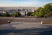 Paris seen from the Sacred Heart (Sacre Coeur) Basilica, Paris, France, Europe