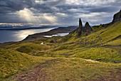 Europe, United Kingdom, Scotland, Isle of Skye: the Old Man of Storr