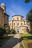Exterior of the Basilica of San Vitale. Ravenna, Emilia Romagna, Italy, Europe.