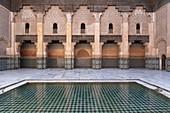 Ali ben Youssef Medersa Koranic School, Marrakech, Morocco.
