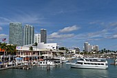 Bayside Marina, Downtown, Miami, Florida, USA.