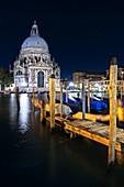 Venice at Night.\nEurope, Italy, Veneto region, Venezia