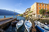 Limone sul Garda harbour, Brescia province, Lombardy, Italy