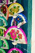 Detail of colourful fans in Havana, Cuba