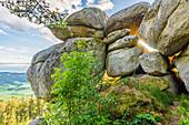 Granite rock Hochbuchet in Aigen-Schlägl, Upper Mühlviertel, Upper Austria, Austria