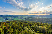 View of the Bohemian Forest and the valley of the Grosser Mühl, Mühlviertel, Austria