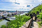 View of the old town of Passau and the Danube, Lower Bavaria, Bavaria, Germany