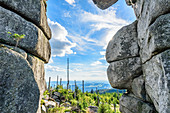 Rock formations at Dreisesselberg in the Bavarian Forest, Bavaria, Germany