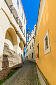 Alley in the city of Steyr, Upper Austria, Austria