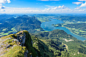 View from Schafberg to the Mondsee in the Salzkammergut, Austria