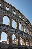 Roman amphitheater Pula Arena, Pula, Istria, Croatia, Europe