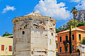 View of Tower of The Winds, Roman Agora, Athens, Greece, Europe,