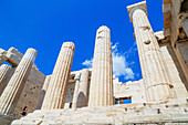 The Propylaea, The monumental gateway to the Acropolis, Athens, Greece, Europe,
