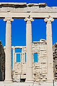 Columns of Erechtheion Temple, Acropolis, Athens, Greece