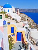 Ansicht von Oia Dorf, Oia, Santorini, Kykladen, Griechenland