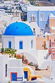 Oia village view, Oia, Santorini, Cyclades Islands, Greece