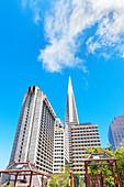 View of Portsmouth square, San Francisco, California, USA