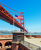 Golden Gate bridge from, Fort Point, San Francisco, California, USA