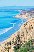 Torrey Pines state beach, top view, California, United States of America