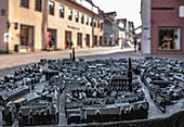 View of the model of Lueneburg, Germany