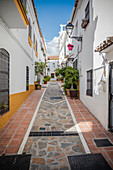 White houses in the old town of Marbella, Spain