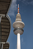 View of the television tower in Hamburg, Germany