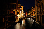 Out and about in Venice at night, Veneto, Italy, Europe