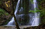 Waterfall in Josefstal, Schliersee, Upper Bavaria, Bavaria, Germany