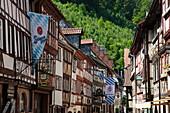 Fachwerkhäuser in der Altstadt, Miltenberg, Spessart-Mainland, Franken, Bayern, Deutschland, Europa