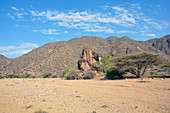 Äthiopien; Region der südlichen Nationen; karge, gebirgige Landschaft im Südwesten Äthiopiens; auf dem Weg von Turmi nach Arbore