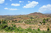 Ethiopia; Southern Nations Region; southern Ethiopian highlands; Terrace fields near Konso; Cultural landscape of the Konso people of the same name