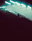 Shot of the subway station at Columbusplatz in retro film optics, Munich, Germany