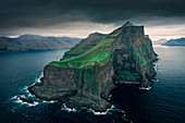 Steep cliffs of Kalsoy Island, Faroe Islands