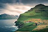 Trøllanes village on the island of Kalsoy, Faroe Islands