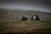 Apartments in Kugelform auf Färöer Inseln