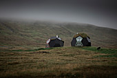 Spherical apartments on Faroe Islands