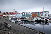 Colorful houses at the port of the capital Torshavn, Faroe Islands