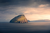 Koltur Island in sunset, Faroe Islands