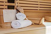 Sauna wellness relaxation, Reit im Winkl, Chiemgau, Bavaria, Germany