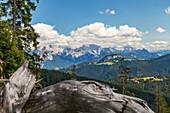 View into the Steinerne Meer and Loferer Alm area in summer, Chiemgau, Bavaria, Germany, Pinzgau, Salzburg, Austria
