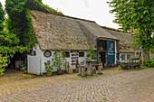 Old Frisian tea house, Nieblum, Föhr Island, North Frisia, Germany