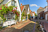 In the alleys of the town of Wyk auf Föhr, North Frisia, Germany